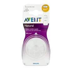 Philips Avent Natural Teat Fast Flow 6m+