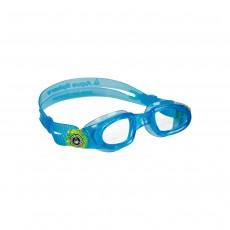 Aqua Sphere Moby Kids Goggles - Turquoise/ Bright Green/ Lenses Clear