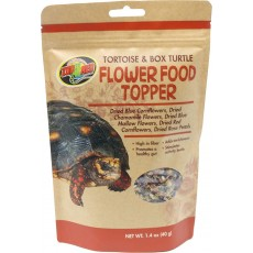 Zoo Med Tortoise and Box Turtle Flower Food Topper - High in Fibre - 1.4 oz