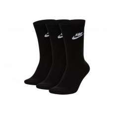 Nike Everyday Essential Crew Socks (Pack of 3) - Black, Small