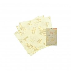 Bee's Wrap Set Of 3 Large Wraps, 33 x 35cm/13 x 14 Inch, Beige