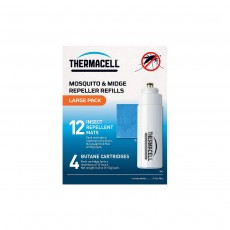 Thermacell Large Refill Pack (12 Repellent Mats & 4 Butane Gas)