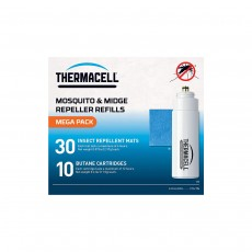 Thermacell Mega Refill Pack (30 Repellent Mats & 10 Butane Gas)