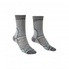 Bridgedale Women's Hike Ultralight Coolmax Sock - Dk Grey/ Light Grey, Small