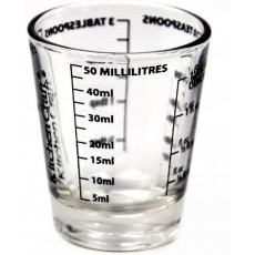 KitchenCraft Glass Mini Measures - Shots / Millilitres and Fluid oz - 50ml