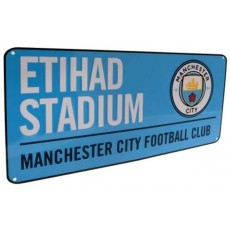 Manchester City Football Club Official Licensed Street Sign in Blue