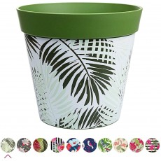 Hum Flowerpots Plant Pot in Dark Green Fern Plastic - 25cm x 25cm