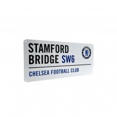 Chelsea F.C. Metal Street Sign Stamford Bridge - 40cm x 18cm