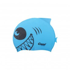 Cressi Shark Silicone Kids Cap - Light Blue
