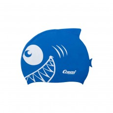 Cressi Shark Silicone Kids Cap - Royal Blue