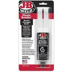 J-B Weld Plastic Bonder Body Panel Adhesive & Gap Filler Syringe in Black - 25ml