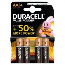 DURACELL PLUS MN1500 AA BATTERY 4PK