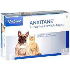 Anxitane Tablet for Cats and Dogs Under 10kg - Reduces Anxiety - 30 Pack