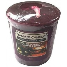Concept4u Yankee Candle Votive Candle with Fragrance Fireside Brilliance