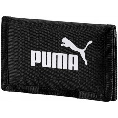 Puma Phase Unisex Wallet Black Polyester with Hook and Loop Closure