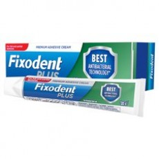Fixodent Plus Dual Protection Denture Adhesive Cream with Fresh Mint Flavour - 40g