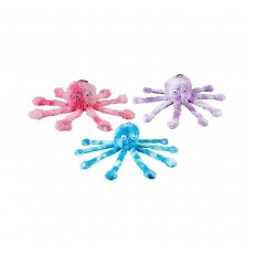 Gor Pets Fun Dog Chew Toy with Squeeky Feet - Baby Octopus (10 inch), (Assorted colors)