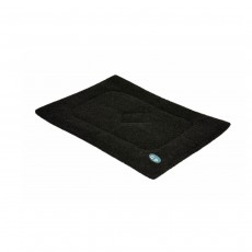 Gor Pets Washabe Sherpa Cage Mat for Dog Cat Crate - Black, 46 x 61 cm