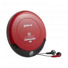 Groov-e Retro Personal CD Player - Red