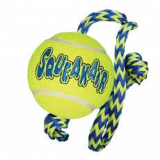 Kong Air Squeaker Tennis Ball With Rope