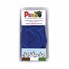 Pawz Rubber Dog Boots Reusable Disposable 100% Waterproof Medium (Blue)