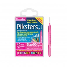 Piksters Interdental Brushes Size 2 White 40 Brushes