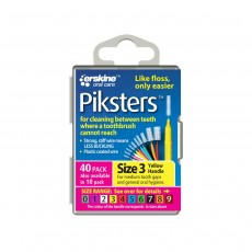Piksters Interdental Brushes Size 3 Yellow 40 Brushes