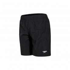 "Speedo Boy's Solid Leisure 15"" Swim Shorts - Black, Medium"