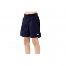 "Speedo Boy's Solid Leisure 15"" Swim Shorts - Navy, Medium"