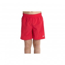 "Speedo Boy's Solid Leisure 15"" Swim Shorts - Red, Small"