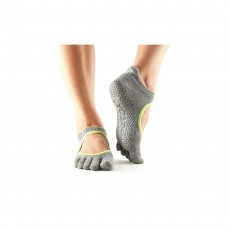 Toesox Full Toe Ballerina Socks - Small Heather Grey