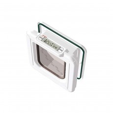 Cat Mate Elite I.D. Disc Cat Flap with Timer Control - White (305W)