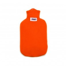 Sanger 2 Litre Hot Water Bottle With Orange Comfortable Removable Fleece Cover