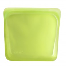 Stasher Reusable Silicone Food Bag, Sandwich Bag, Storage Bag, Solid Lime
