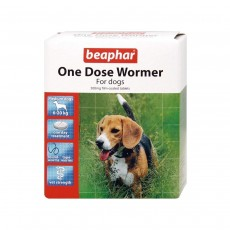 Beaphar One Dose Wormer 2 Tab for Medium Dogs