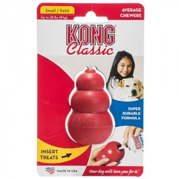 KONG Classic Dog Toy - Small, Red