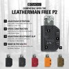 Clip & Carry Kydex Multitool Sheath in Carbon Fibre Brown for Leatherman Free P2