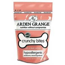Arden Grange Crunchy Bites Dry Dog Treats with Salmon - 225g