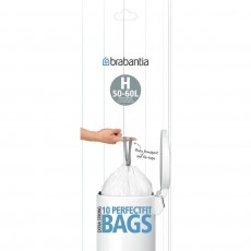 Brabantia Bin Liners - Extra Strong Plastic - 50-60L Size H - 10 Bags