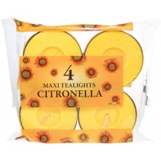 Prices SMT002418 Candles Maxi Tealights - Citronella - 10 Hr - Pack of 4