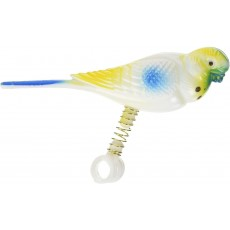 Rosewood Boredom Breaker Budgie On Spring Bird Toy for Budgies and Canaries