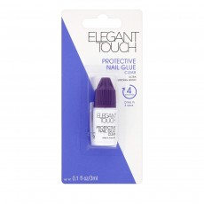 Elegant Touch Protective Nail Glue Clear Ultra Stong Bond - 3ml