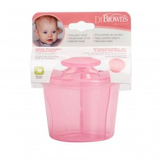 Dr Brown's Infant Easy Travel Storage Baby Milk Powder Dispenser - Pink