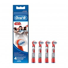 Oral-B Kids Stages Star Wars Replacement Red Toothbrush Heads - Pack of 4