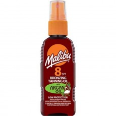 Malibu Bronzing Tanning Oil Spray SPF 8 wIth Argan Oil - 100ml