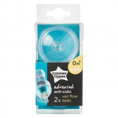 Tommee Tippee Advanced Anti-Colic Variable Flow Teats - 2 Counts