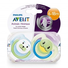 Philips Avent Animal Design Soothers 6-18 Months