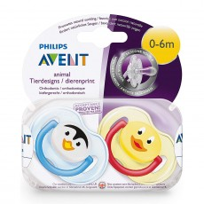 Philips Avent Animal Design Soother 0-6 Months
