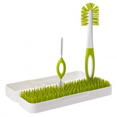 Boon Travel Drying Rack and Bottle Brushes, Green