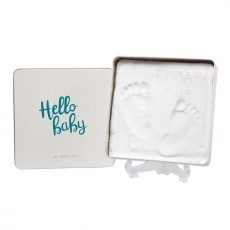 Baby Art Magic Box Square Essentials Elegant Gift Box with Plaster Cast for Baby Feet or Hands, Multi-Colour